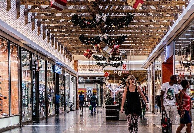 nakupující a nákupní centrum