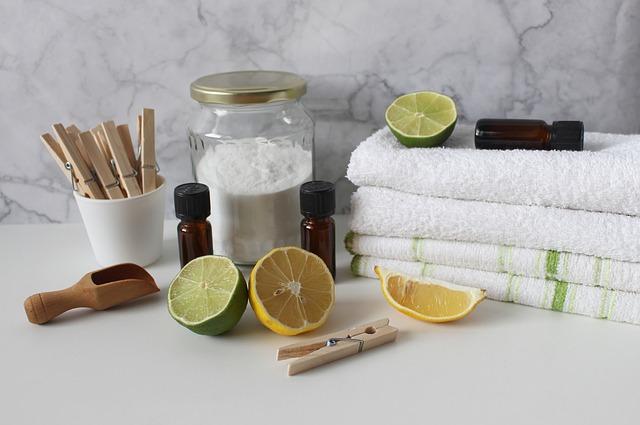 citrusy v prádelně